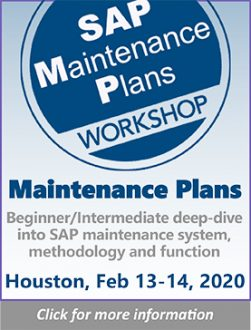 SAP Maintenance Plans
