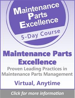 Maintenance Parts Excellence
